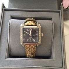 Authentic Michele Milou Diamond Watch Very good used condition. Some scratches nothing major. Will include all authentic straps. Selling as a set only. Cheaper ️️ Michele Accessories Watches