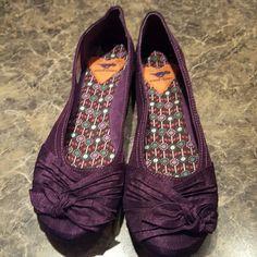 Shoes Dark purple silk slip on Rocket Dog Shoes Flats & Loafers
