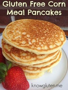 gluten free cornmeal pancakes 1⅓ cup cornmeal 2 T sugar 1 T Baking powder 2 T butter OR 2 T vegetable oil and ¼ tsp salt 1 egg 1 cup milk 1 tsp vanilla