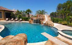 mediterranean pool designs | Mediterranean Pool design by Tampa Travertine Warehouse