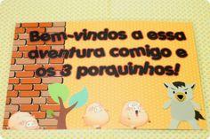 Festa Pronta – Três Porquinhos - Tuty - Arte & Mimos www.tuty.com.br Que tal usar esta inspiração para a próxima festa? Entre em contato com a gente! www.tuty.com.br #festa #personalizada #party #tuty #cute #happy #fun #bday #porquinhos #lobo #pig