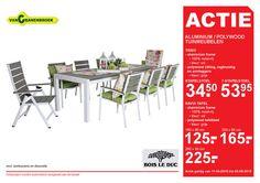 bois le duc tuin standenstoel tuintafel automatisch aluminium polywood tuinmeubelen frame 100 roestvrij kleur wit zitting rugleuning armleggers grijs stapelstoel navia tafel tafelblad 160x90 200 90 cm 260 11  folder aanbieding bij VanCranenbroek