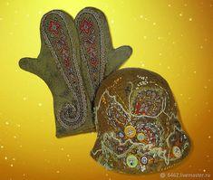 """Купить Валяные митенки и шляпа """"Страна Оливия"""" в интернет магазине на Ярмарке Мастеров"""