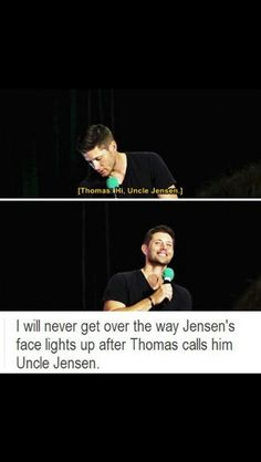 Jared's son saying Uncle Jensen :)