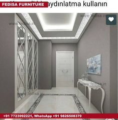 Treso i̇ç mimarlık – gold towers konut: tarz koridor ve hol Modern Corridor, hallway & stairs by Tre House Ceiling Design, Ceiling Design Living Room, Ceiling Light Design, Living Room Designs, House Design, Lobby Design, Home Interior Design, Interior Architecture, Interior Modern