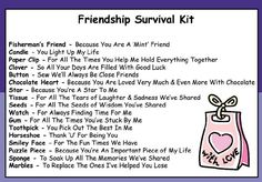 Friendship Survival Kit In A Can. Novelty Fun Gift For A Special Friend. Best Friend Card & Present All In One. Birthday, Christmas, Just Because. Customise Your Can Colour. (Purple/Lilac)
