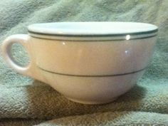 Vintage Sterling Vitrified China - Green Ring Resturant Coffee Mug/Cup picclick.com
