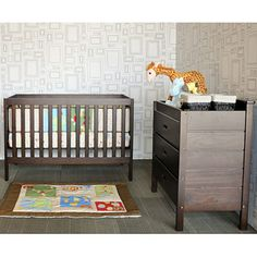 Baby Mod - Modena 3-in-1 Fixed-Side Crib, Espresso