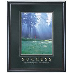 Success motivational poster image: Awash in early morning sunlight, a peaceful putting green is dotted with the footprints of a handful of industrious, early-rising golfers. Our Success motivational poster from our exclusive Corporate Impressions col From: http://ashleysmiling.shiftingretail.com/  #successquotes  CLICK ON THE IMAGE---> https://www.LawofAttractionSecrets.ca