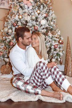 Matching Christmas Pajamas Couples, Holiday Pajamas, Matching Pajamas, Christmas Pjs, Christmas Couple, Family Christmas Pictures, Holiday Pictures, Instagram Christmas, Christmas Photography
