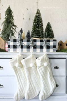 Easy diy stocking holder tutorial. Great way to store Christmas decor and hang your stockings if you don't have a mantel! Register now for @Home Depot's #dihworkshop! #ad #buffalocheck
