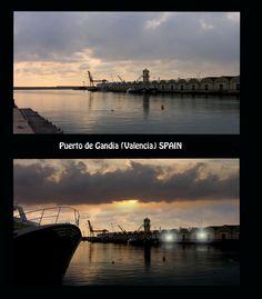 Un retoque con Photoshop al puerto de Gandia.