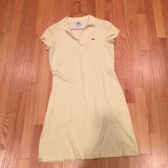 Yellow Lacoste summer polo dress. Cute summer Lacoste dress. Lacoste Dresses