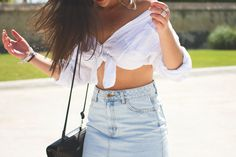 #moda #look #style #denim #skirt #top #shirt #fashion #outfit #faldavaquera #modafemenina #modamujer #blogger #alasdeangelBlog #Murcia #Sevilla #Vogue #trend #summer
