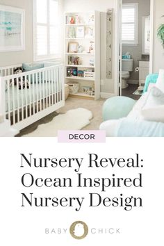 This ocean inspired nursery room design will leave you feeling calm, relaxed & wanting a baby. It's the perfect look for a boy or girls room! Nursery Design, Baby Design, Nursery Room, Nursery Ideas, Wanting A Baby, Baby Chicks, Traveling With Baby, Parenting Hacks, Cribs
