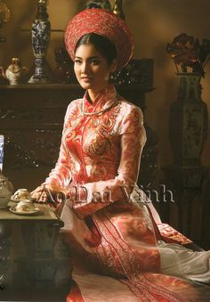 aodaivinh :: Wedding Ao Dai :: Red :: Red Wedding Ao Dai WR193