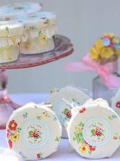DIY Wildflower Seed Scrub Favors from Nostalgia Organics (shower idea) Wedding Favours, Party Favors, Jam Favors, Homemade Gifts, Diy Gifts, Wildflower Seeds, Pots, Diy Spa, Martha Stewart Weddings