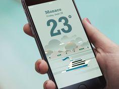 Weather App - Monaco by STUDIOJQ