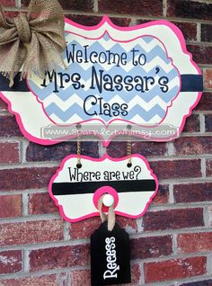 Where are We Classroom Sign by SparkledWhimsy on Etsy, $65.00