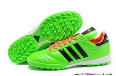 Green Orange Black Soccer Shoes 2014 Brazil World Cup Adidas Copa Mundial TF Football Boots