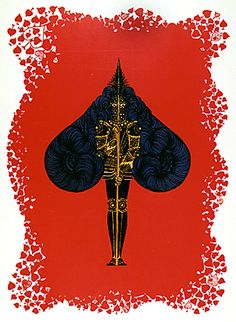 A stunningly attractive back to back Erte print vintage bookplate by Russian born French artist Roman de Tirtoff who worked under the pseudonym Art Deco Design, E Design, Art Deco Fashion, Fashion Prints, Erte Art, Romain De Tirtoff, Ace Of Spades, 23 November, Vintage Art Prints