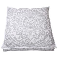 35 x 35 Cotton Floor Pillow Cover Square Mandala Ombre Meditation Cushion Cover #Handmade #ArtDecoStyle #FloorPillowCoverOttomanCoverPoufCover