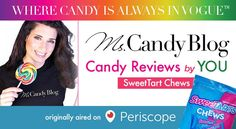 SweetTart Taffy American Candy Review by Female Candy Reviewer (Live Str...