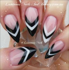 black and white nails - Google otsing