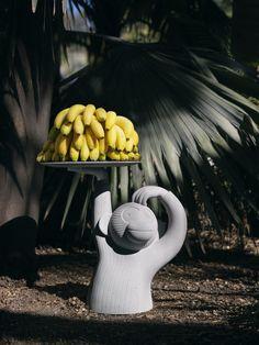 Low round concrete coffee table MONKEY Gardenias Collection by @bdbarcelona  Design | design Jaime Hayón