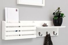 Image result for wall mounted coat rack with shelf