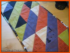"""Autumn Table Runner - Different fabrics for sure. If I can complete this before Thanksgiving, I'll use this for the """"write something you're thankful for each year"""" pin."""