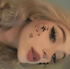 Cute Makeup Looks, Makeup Eye Looks, Pretty Makeup, Simple Makeup, Eye Makeup, Aesthetic Grunge Outfit, Aesthetic Makeup, Emo Tattoos, Cute Halloween Nails