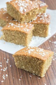 Toto. Traditional Jamaican Coconut Cake. Fantastic recipe by That Girl Cooks Healthy. Vegetarian/Vegan.