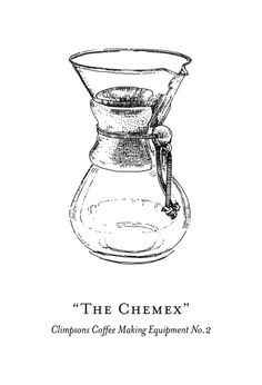 Coffee making equipment illustrations for Climpson & Sons - The Chemex