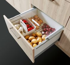 Storage space ideas for your kitchen - Extract with galley box for the kitchen – from Spitzhüttl Home Company - Kitchen Organization Pantry, Home Organisation, Diy Kitchen Storage, Home Decor Kitchen, Home Kitchens, Kitchen Ideas, Ikea Kitchen Drawers, Kitchen Wall Tiles Design, Cuisines Diy