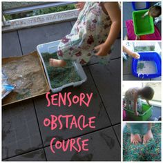 Sensory obstacle course. Fun for tots feet!