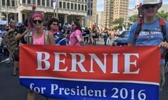 """Bernie Sanders Supporters Disrupt The Democratic Convention """"Hell no, DNC, we won't vote for Hillary."""""""