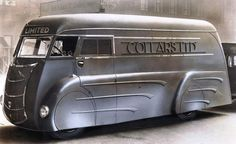 Art Deco laundry van built in the 1930s by Holland Coachcraft of Govan, Scotland. [1024×626]