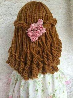 cabelo de boneca de lã passo a passo - Pesquisa Google