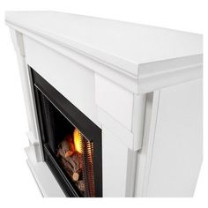 Real Flame - Silverton Gel Fireplace-White, White