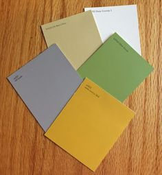 tutorial: how to choose solid fabrics for quilts using paint chips.