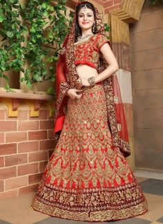 Maroon Red Embroidery Work Silk Net Wedding Designer Lehenga Choli http://www.angelnx.com/Lehenga-Choli/Wedding-Lehenga-Choli