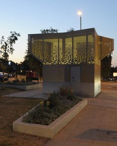 Wembley WC Pavilion Public Toilet By Gort Scott Aberdeen Park, Temporary Architecture, Modern Architecture, Exterior Wall Cladding, Restroom Design, Landscape Elements, Public Bathrooms, Toilet Design, Interior Design Inspiration
