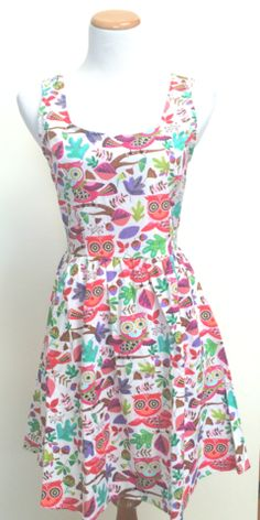 Don't Give a Hoot Dress - - from hello universe! - adorable retro, vintage, fun prints, inspirations and fashions #owls