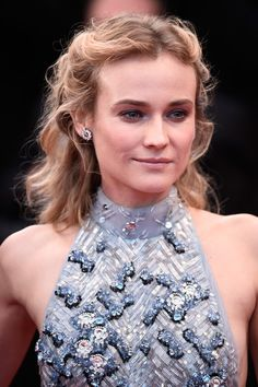 """Diane Kruger Photos - Diane Kruger attends the Premiere of """"The Sea Of Trees"""" during the annual Cannes Film Festival on May 2015 in Cannes, France. - 'The Sea Of Trees' Premiere - The Annual Cannes Film Festival Prom Hairstyles All Down, Wedding Guest Hairstyles, Summer Hairstyles, Trendy Hairstyles, Diane Kruger, Glitter Makeup Looks, Long Brunette, Hair Images, Cannes Film Festival"""