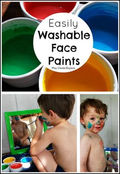 Homemade Washable Face Paint