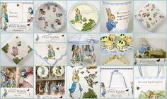 Some really cute supplies and ideas for a Peter Rabbit/Beatrix Potter party