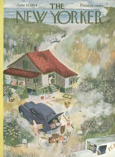 The New Yorker - Saturday, June 12, 1954 - Issue # 1530 - Vol. 30 - N° 17 - Cover by : Roger Duvoisin