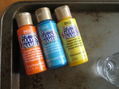 How to paint glass {shot glass}