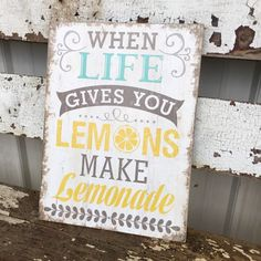 "11-3/4""L x 15-3/4""H MDF ""When Life Gives You Lemons?"" Wall Décor"